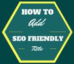 seo friendly title