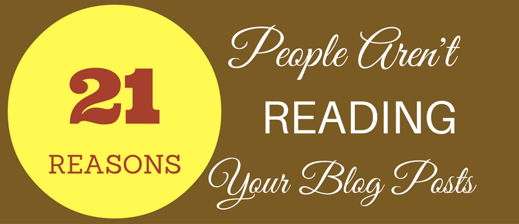 people aren't reading your blog posts
