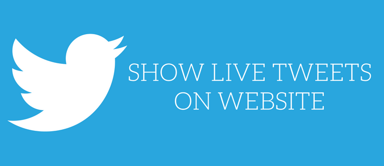 show live tweets on website