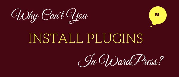 can't install plugins
