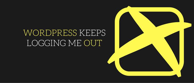 wordpress keeps logging me out