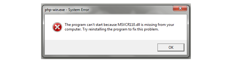fix msvcr120.dll is missing error