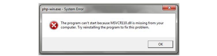 fix msvcr120.dll is missing error