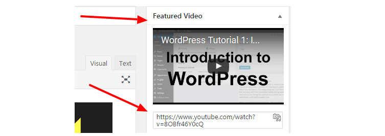 add featured video in wordpress