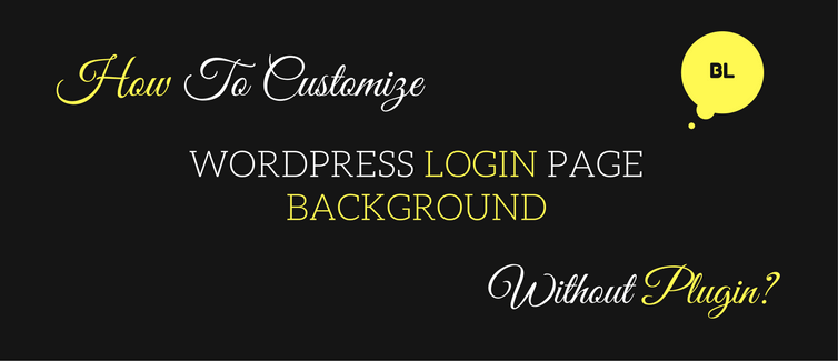 customize wordpress login page background