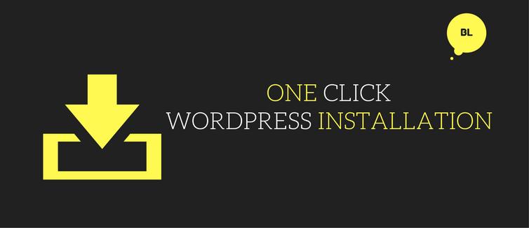 install wordpress using one click installation method