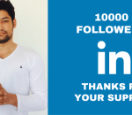 Gained 10000 Linkedin followers