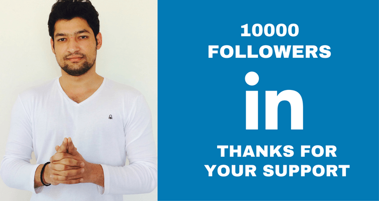 Gained 10000 Linkedin followers