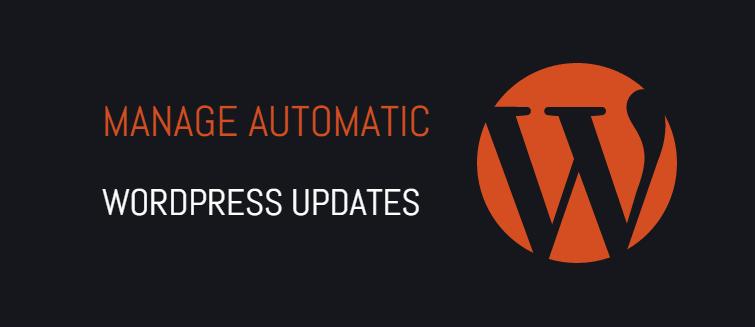 Manage automatic WordPress updates properly