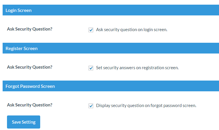 add security question