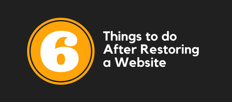 Things to do After Restoring a WordPress Website