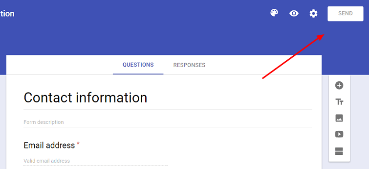 Add Google form
