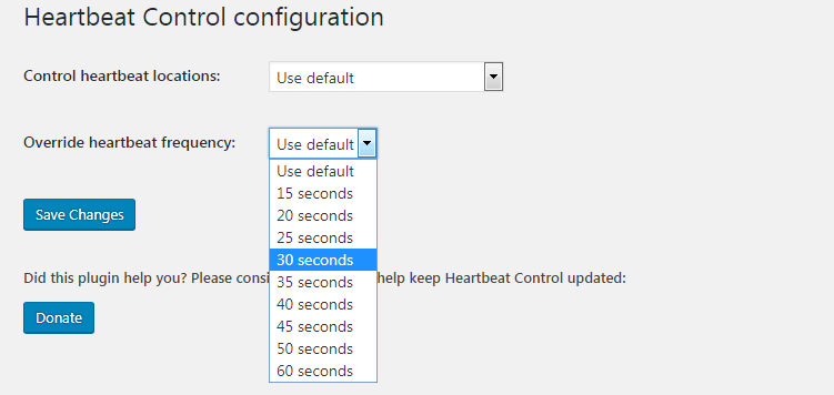 control WordPress heartbeat API