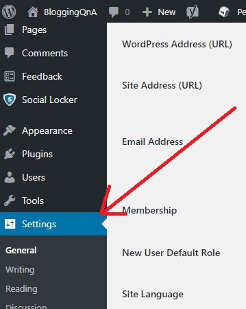 Wordpress ping submission settings