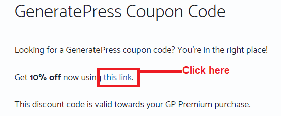 generatepress premium coupon code