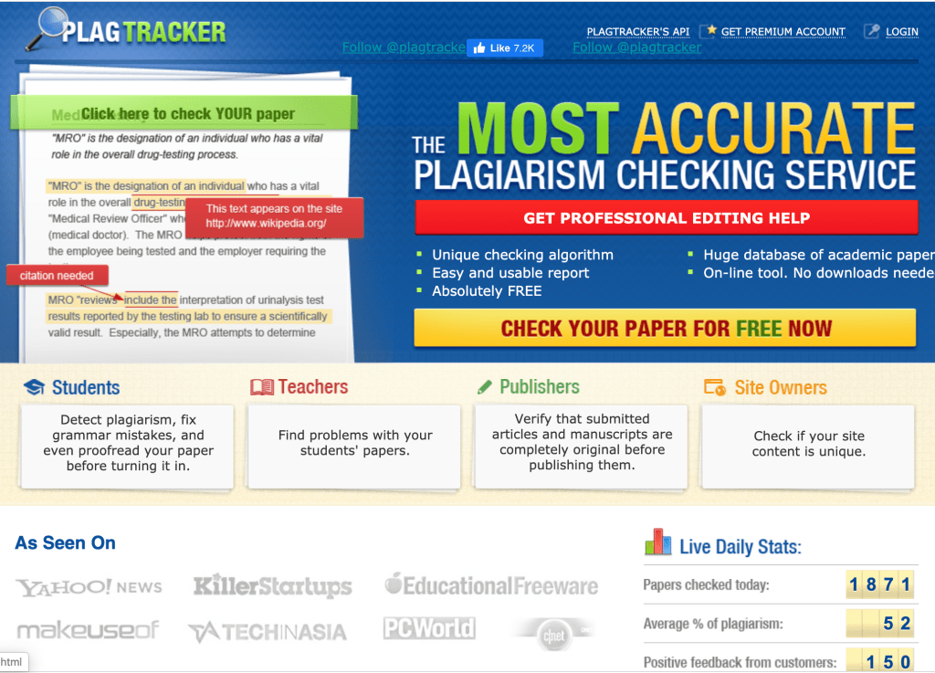 plagtracker free online plagiarism checker