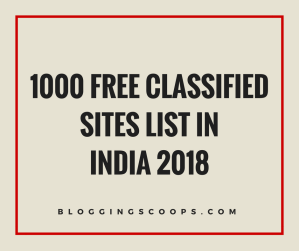1000+ Free Classified Sites Lists {Updated 2018}