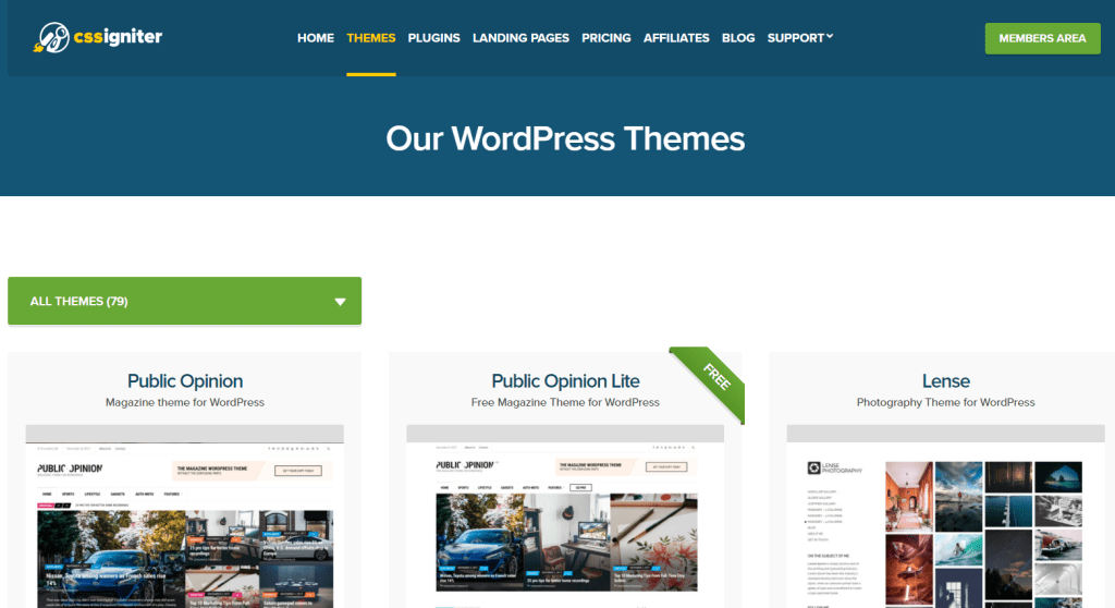 cssigniter-wp-themes-marketplace