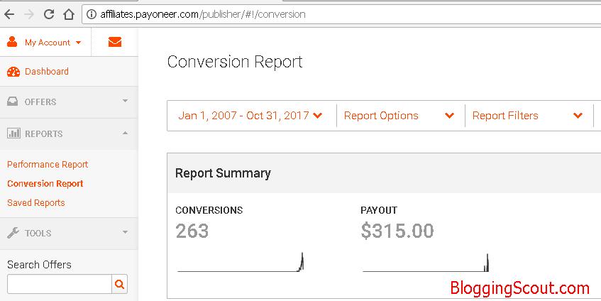 payoneer-affiliate-report