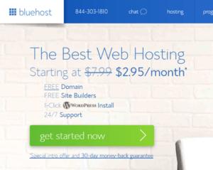 bluehost 2.95 hosting promo code