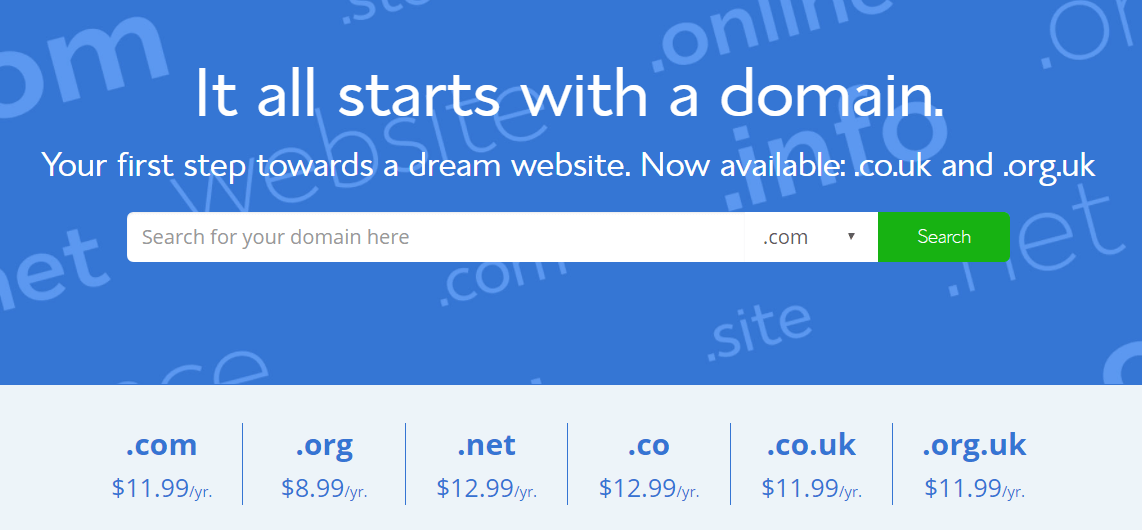 Bluehost Free Domain Name