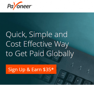 Payoneer Sign UP Bonus $35