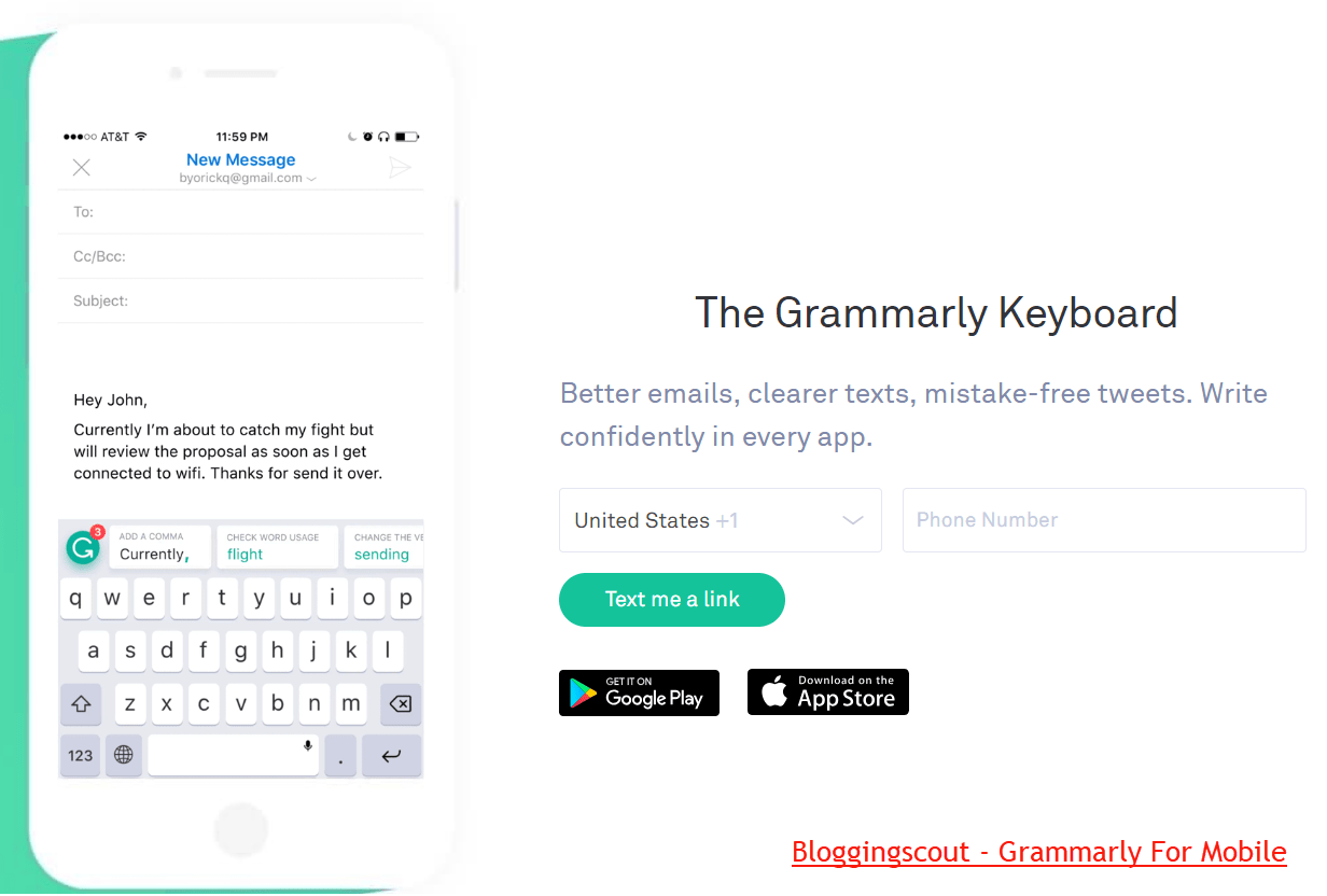 Grammarly Mobile Keyboard