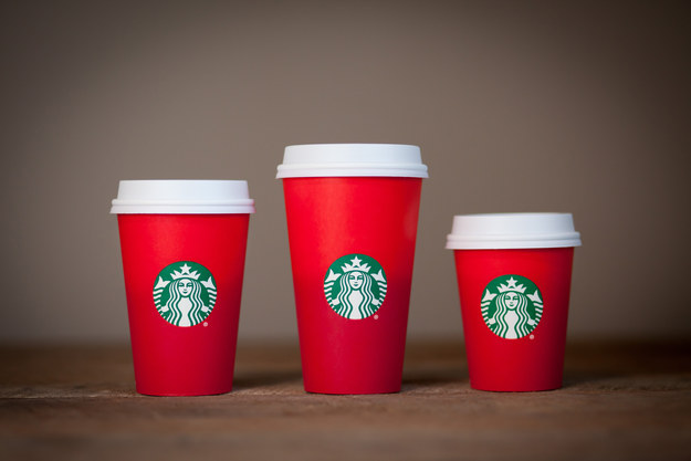 Starbucks 2015 red cups—the ones causing a hubbub (apparently)