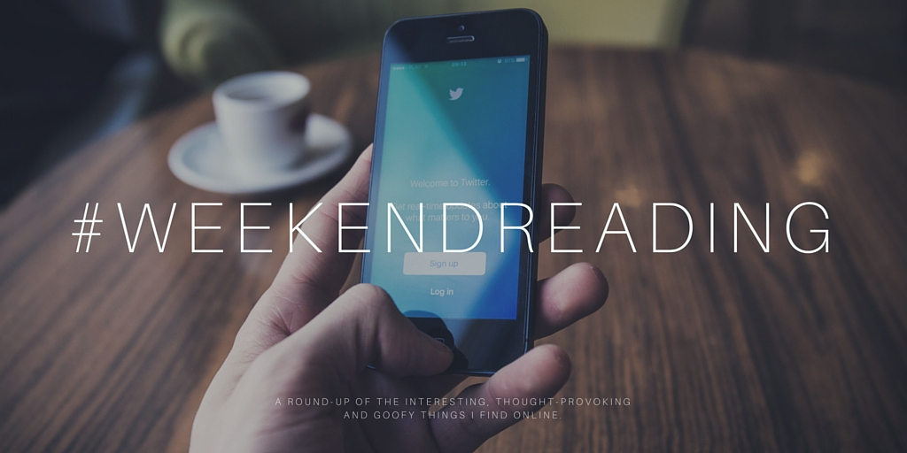 Weekend Reading at Blogging Theologically