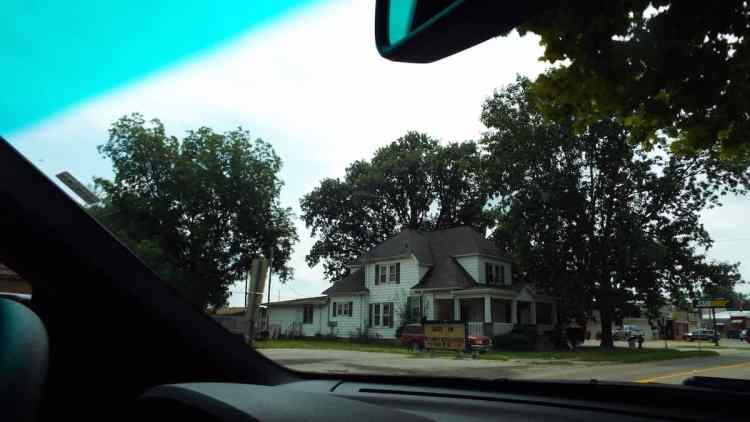 Classic wooden house along Illinois Route 66