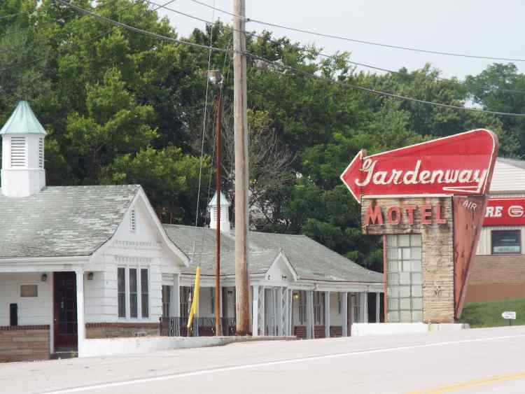 The now closed historic Gardenway Motel in Villa Ridge, Missouri,