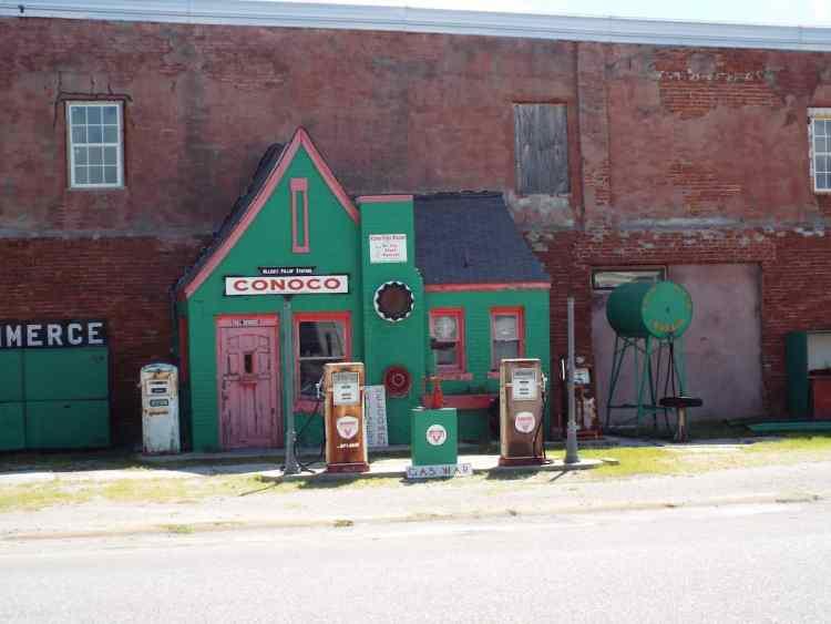 old Conoco service station in Commerce Oklahoma