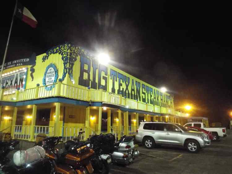 The Big Texan Motel in Amarillo Texas