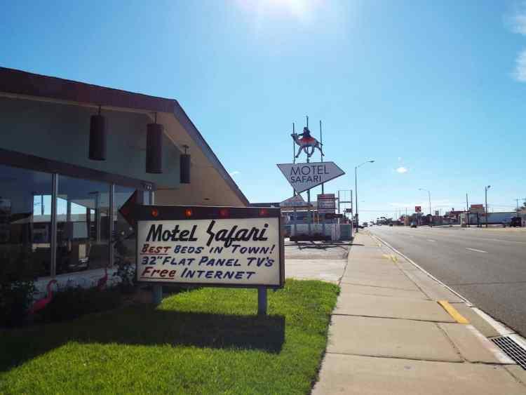 classic 1950's Motel Safari in Tucumcari New Mexico