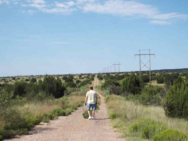 an original unpaved part of route 66 in New mexico