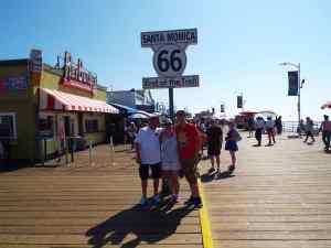 Santa Monica Route 66 sign