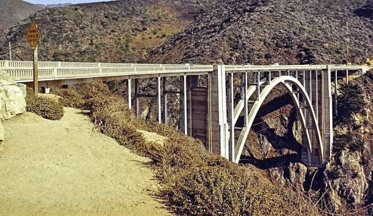 Bixby Bridge on Highway one California