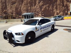 Ford Mustang Police Car at the Hoover dam
