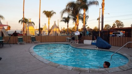 Poolside at The wigwam Motel