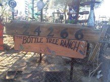 The Bottle Ranch in Bagdad California sign