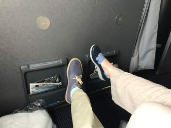 The decision to upgrade to extra legroom was justified