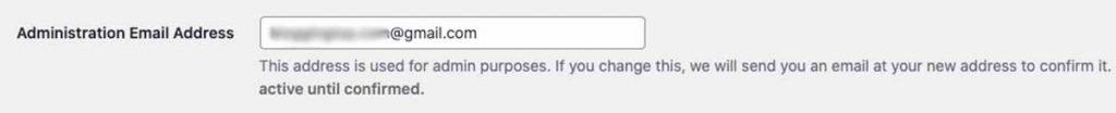 Change Admin Email WordPress