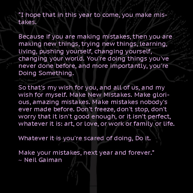 Neil Gaiman New Year's Quote