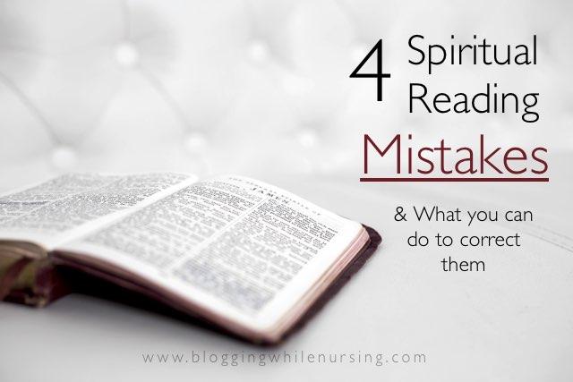 4 Spiritual Reading Mistakes