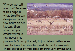 Example of text wrapping around a photograph