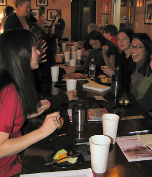 Romance Writers of America and bloggers meet to talk about web publishing - photograph copyright Lorelle VanFossen