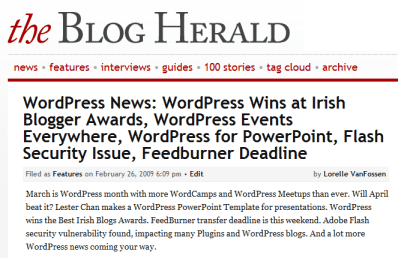 blog herald wordpress news