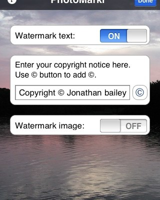 PhotoMarkr: Watermark Your iPhone Images