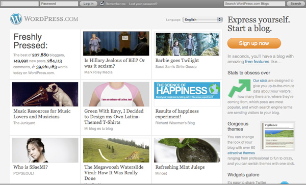 WP.com Launches Redesigned Homepage