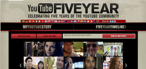 YouTube Five Year Channel